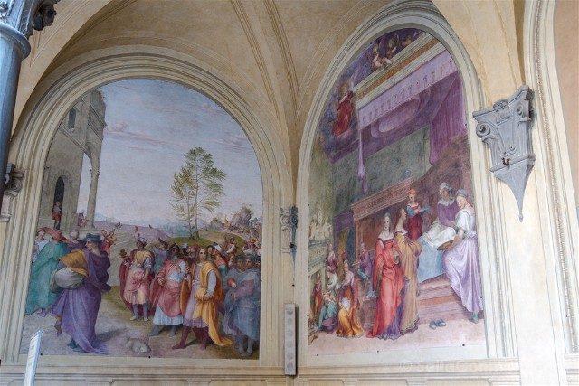 Italia Iglesias Florencia Santissima Annunziata Claustro Votos Frescos