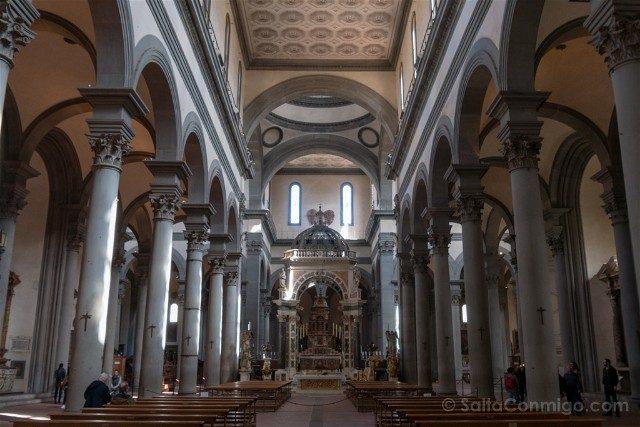 Italia Iglesias Florencia Santo Spirito Interior