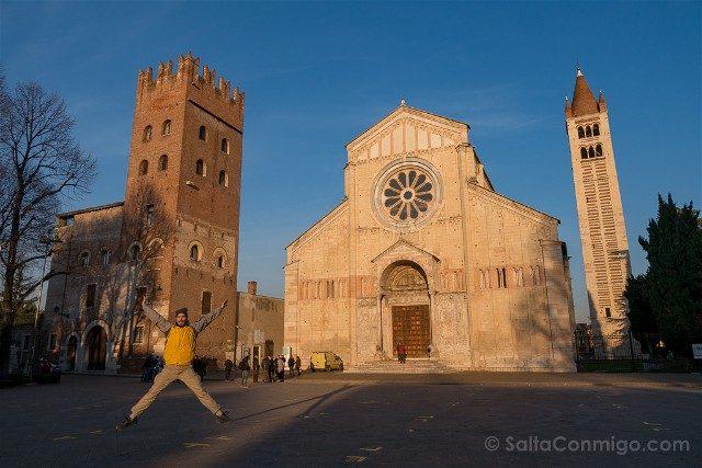 Italia Veneto Verona Iglesia San Zeno Salto