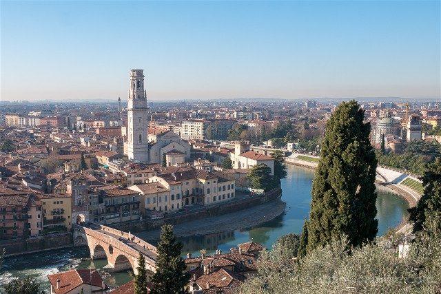 Italia Veneto Verona Vista Castel San Pietro