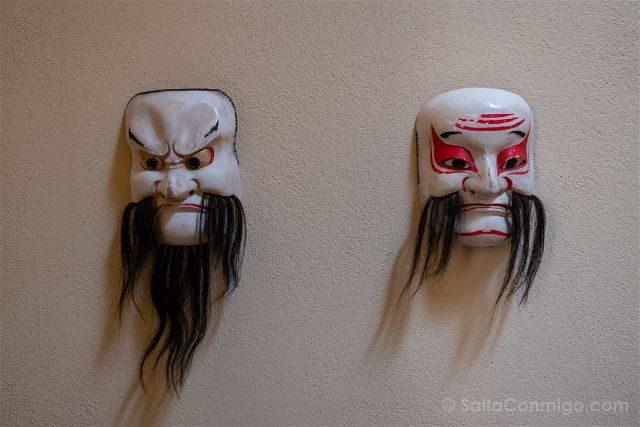 Las Palmas de Gran Canaria Casa Museo Benito Perez Galdos Mascaras Japonesas