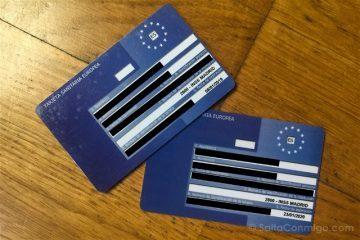 Tarjeta Sanitaria Europea Frontal