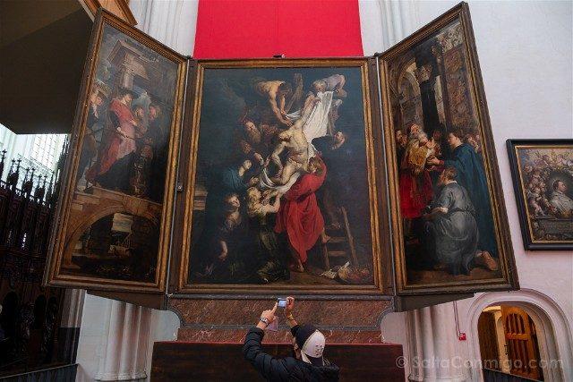 BelgicaFlandes Amberes Catedral Descendimiento Cruz Rubens