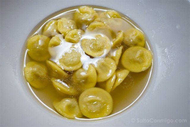 Comer en Parma Trattoria Del Ducato Anolini