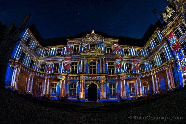 Francia Castillos Loira Chateau Royal Blois Espectaculo Nocturno