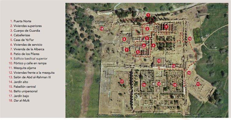 Cordoba Medina Azahara Mapa Oficial