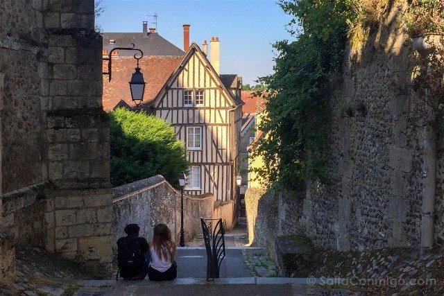 Francia Loira Chartres Centro Pareja