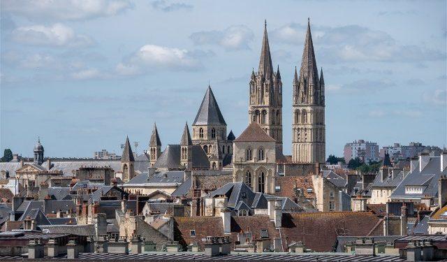 Francia Normandia Caen Castillo Panorama