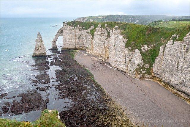 Francia Normandia Etretat Acantilados Arriba