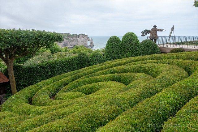 Francia Normandia Etretat Jardin Mirador