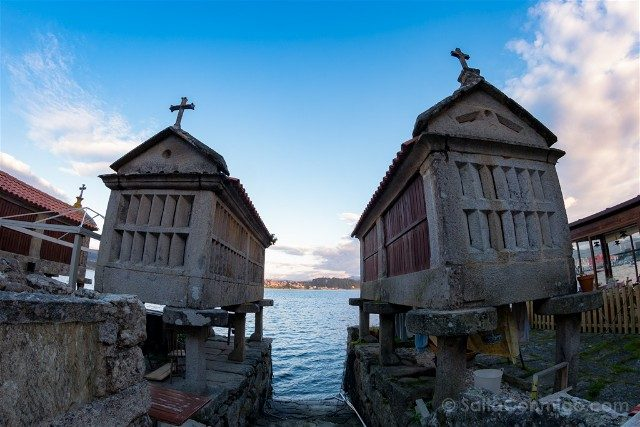 Galicia Rias Baixas Combarro Horreos Rua Mar