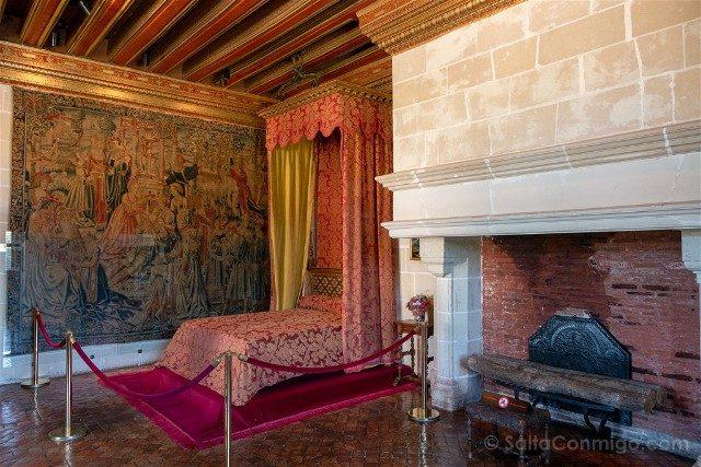 CastilloDe Chenonceau Valle Del Loira Aposento Gabriela Estrees