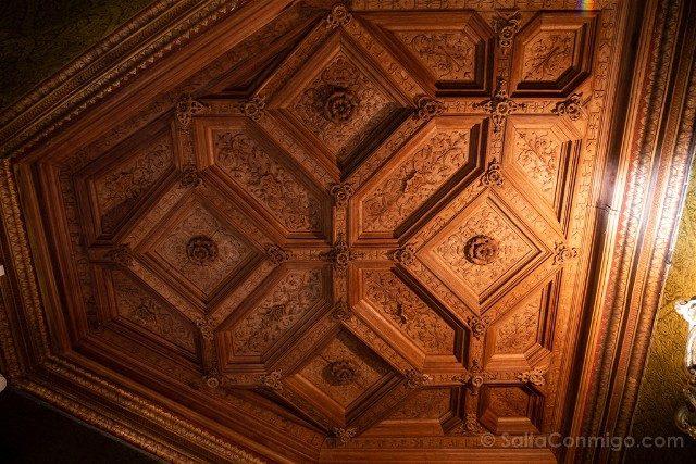 Castillo De Chenonceau Valle Del Loira Biblioteca Artesonado