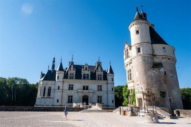 Castillo De Chenonceau Valle Del Loira Explanada Torre Homenaje Pozo