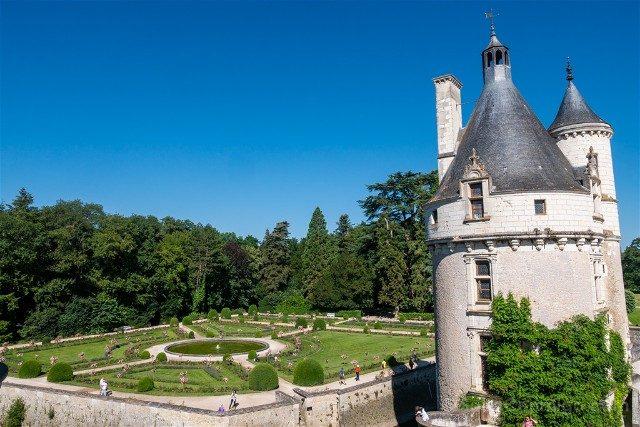 Castillo De Chenonceau Valle Del Loira Jardin Catalina Medici