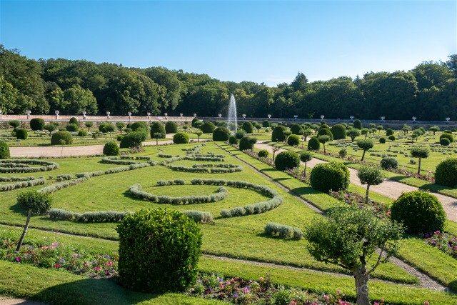Castillo De Chenonceau Valle Del Loira Jardin Diana Poitiers