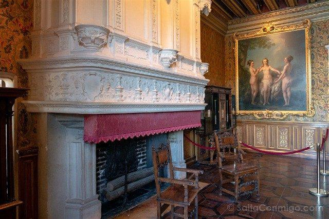 Castillo De Chenonceau Valle Del Loira Salon Francisco I