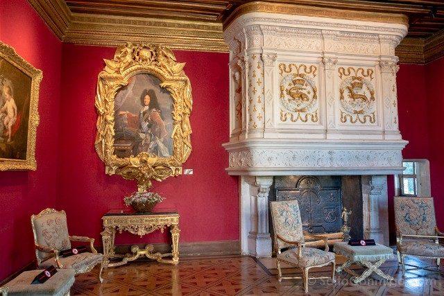 Castillo De Chenonceau Valle Del Loira Salon Luis XIV
