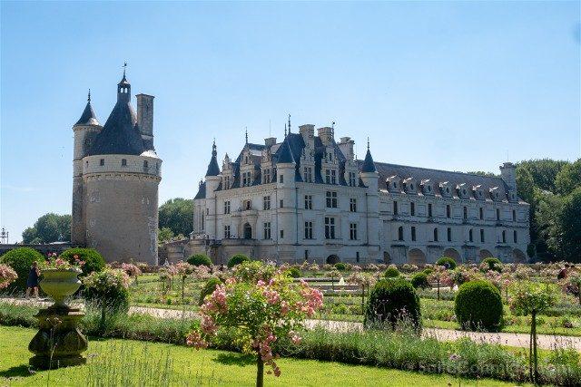 Castillo De Chenonceau Valle Del Loira Vista Jardin Catalina