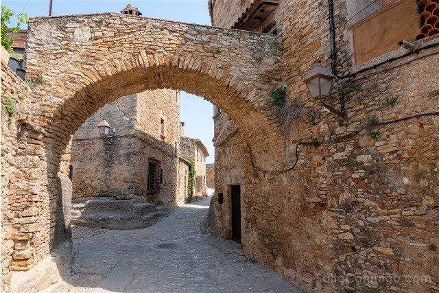 Peratallada Girona Carrer Vas Arco