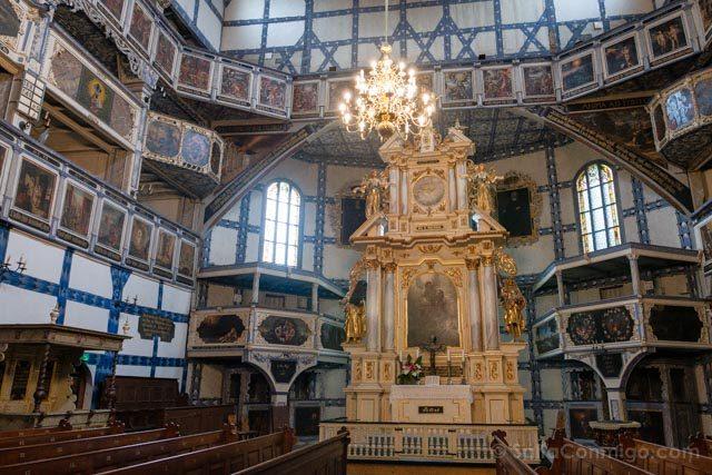 Polonia Baja Silesia Iglesia Paz Jawor Altar Barroco
