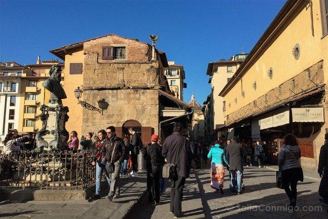 Puente Viejo Florencia Curiosidades Mirador Benvenuto Cellini