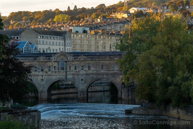 Que Ver En Bath Pultney Bridge Atardecer