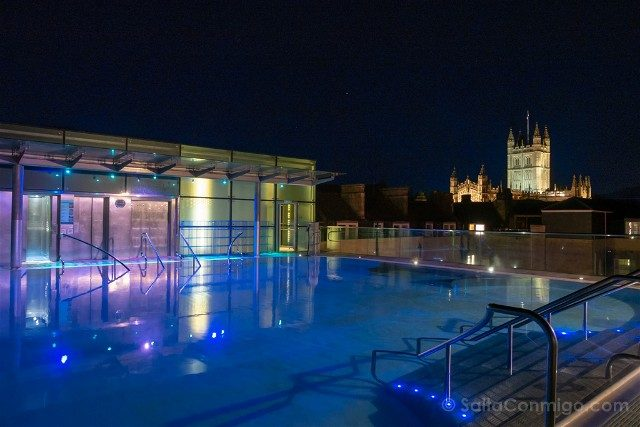 Que Ver En Bath Thermae Bath Spa Terraza Hora Azul