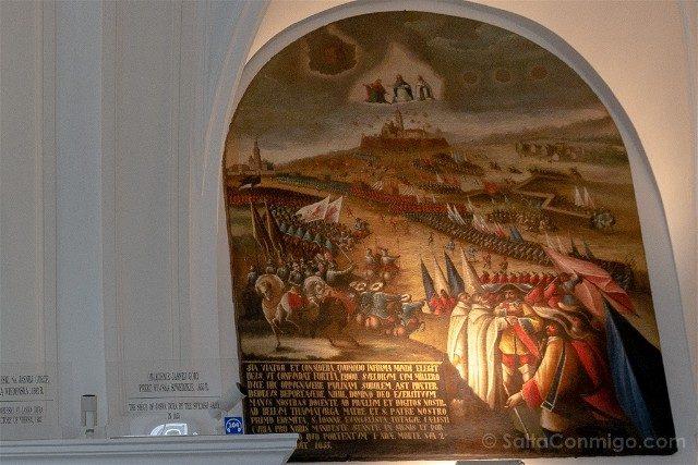 Santuario Czestochowa Jasna Gora Polonia Sala Caballeros Diluvio Sueco