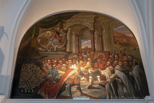 Santuario Czestochowa Jasna Gora Polonia Sala Caballeros Entraga Cuadro