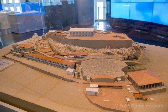 Museo de la Acropolis de Atenas Reconstruccion Monte