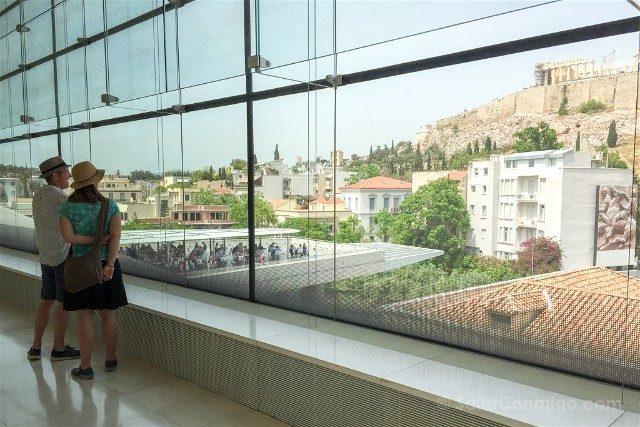 Museo de la Acropolis de Atenas Vista Colina