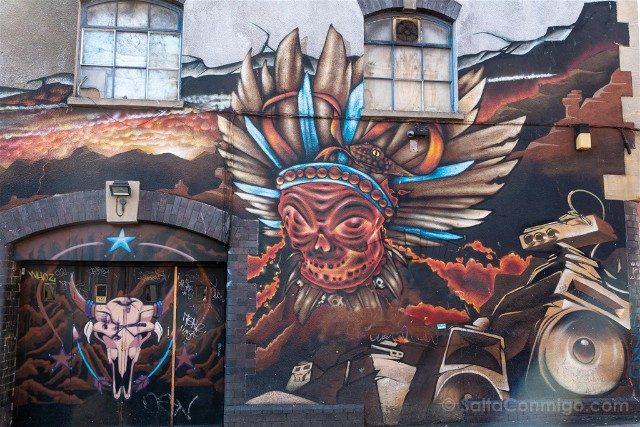 Que ver en Bristol Arte Urbano Mural Indio