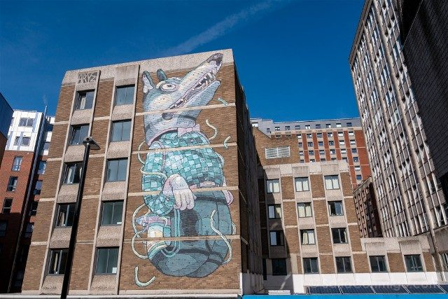 Que ver en Bristol Arte Urbano Mural Perro Saltando