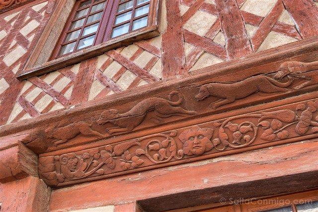 Que ver en Josselin Bretana Detalle Casa 1538