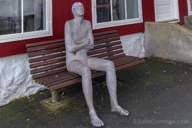 Torshavn Islas Feroe Estatua