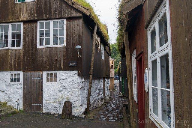 Torshavn Islas Feroe Tinganes Casas Antiguas