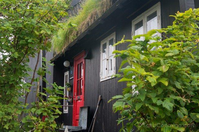 Torshavn Islas Feroe Tinganes Casas Detalle