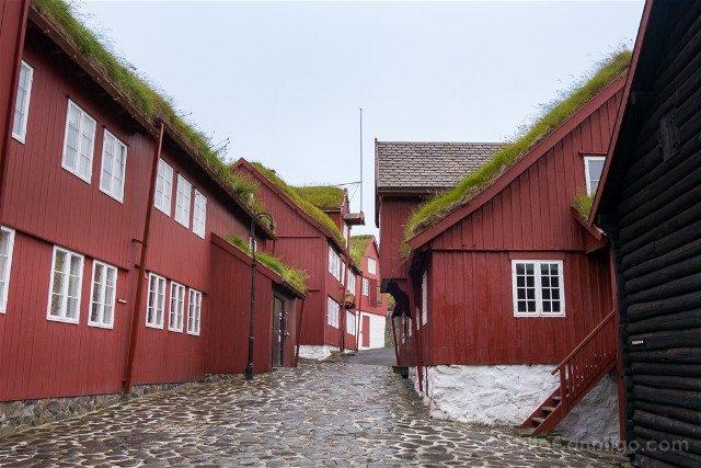 Torshavn Islas Feroe Tinganes Parlamento