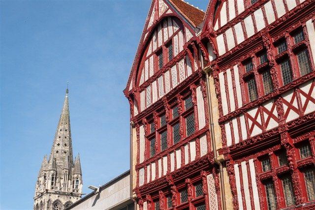 Que ver en Caen Rue Saint Pierre Entramado Madera