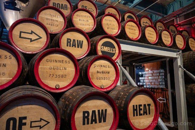 Fabrica de Guinness Dublin Toneles