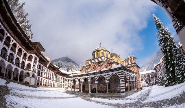 Monasterio Rila Ojo Pez Nieve