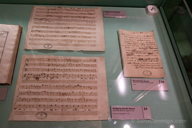 Museo Internacional Biblioteca de la Musica de Bolonia Examenes Mozart