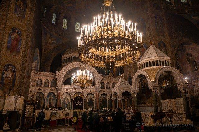 Que ver en Sofia Catedral Alexander Nevski Interior