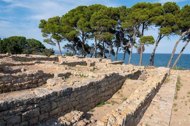 Ruinas de Empuries Ciudad Griega Mar