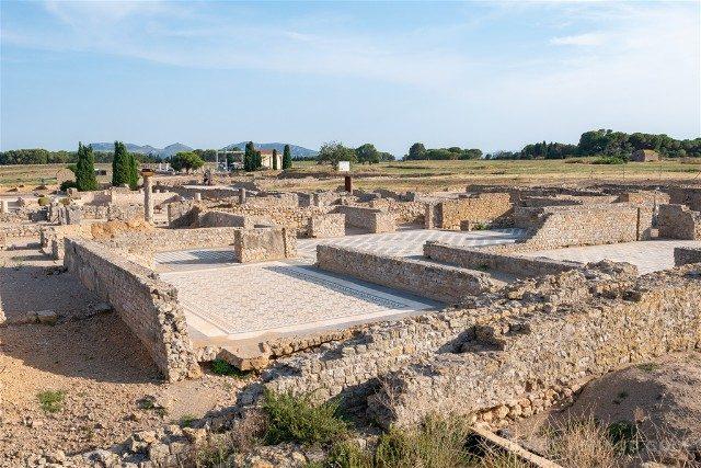 Ruinas de Empuries Ciudad Romana Mosaicos