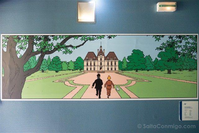Castillo de Cheverny Valle del Loira Moulinsart Tintin