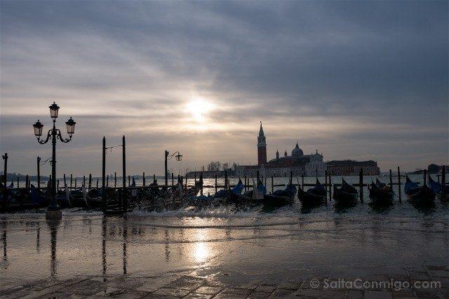 Fotos de Venecia Piazza San Marco Riva degli Schiavoni Acqua Alta