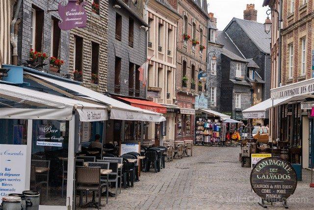 Que ver en Honfleur Calle Restaurantes