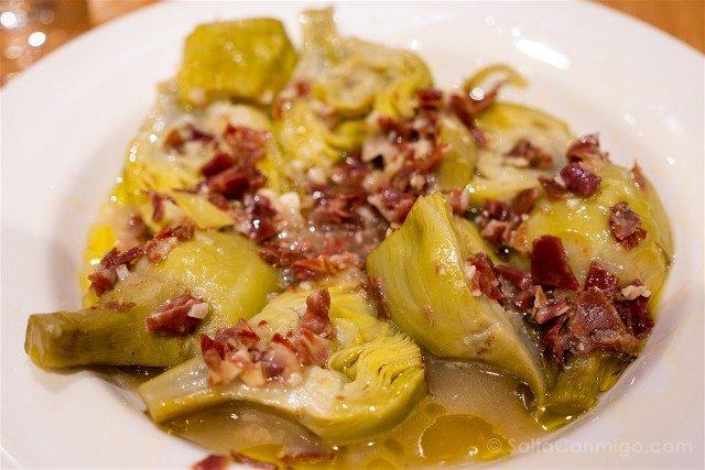Comer en Pamplona Bar Zanpa Alcachofas